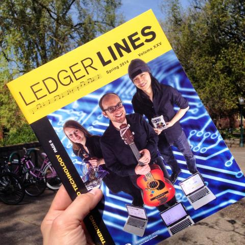 Cover of the Ledger Lines magazine