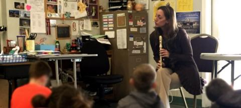 Instructor of music education Beth Wheeler teaches children with severe emotional issues at Jasper Mountain treatment center.