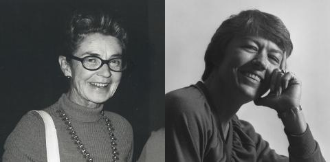 UO Dance Department founder M. Frances Dougherty (left) and her successor Linda Hearn (right).