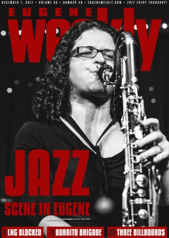 Associate professor of saxophone and jazz studies Idit Shner on the cover of Eugeen Weekly.