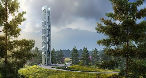 Tower of Voices National Memorial in Shanksville, Pennsylvania (artwork courtesy: bioLinia and Paul Murdoch Architects).