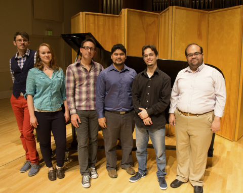 Alexandre Dossin and his piano studio students