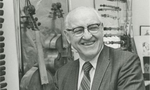 Former professor and associate dean Edmund A. Cykler. Photo credit: UO Special Collections & University Archives (1972)