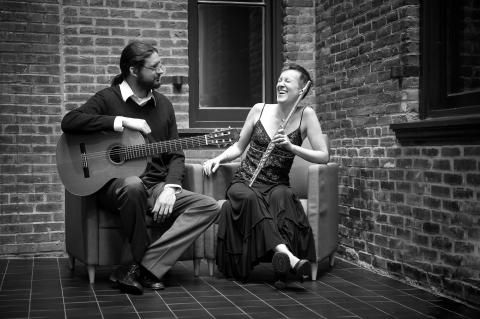 Duo Damiana consists of flutist Barth and guitarist Hennings.