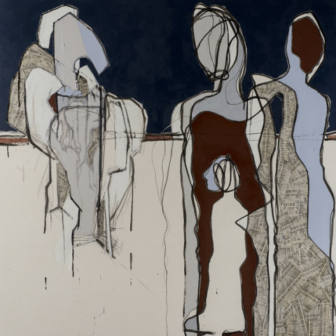 "A work from Lillian Almeida's ""Figures from an Opera"" series"