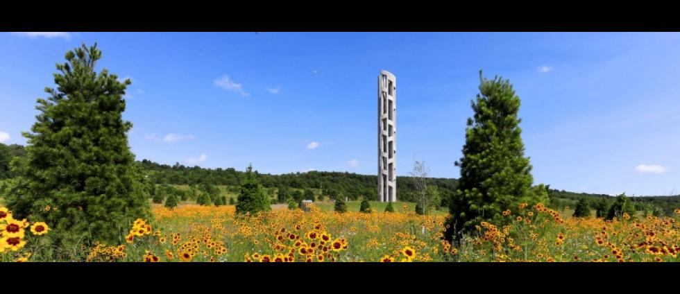 Tower of Voices National Memorial in Shanksville, Pennsylvania.