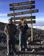 John and Sean Jacob Turner at the summit of Mount Kilimanjaro in Tanzania